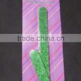 2 pcs Glitters emery board set with blister card/set of green glitters emery board/glitters nail files