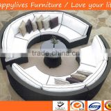 HL-9033 Good Design Low price and Best seller Aluminum wholesale rattan wicker garden furniture and furniture sofa set for USA