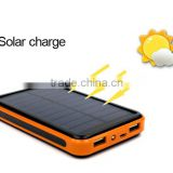 Wholesale high capacity 20000mah portable solar Power bank for iphones