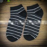factory wholesale custom stripe black/white color tight socks cotton cotton