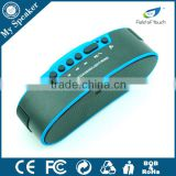 B6 blue color wireless handsfree LED bluetooth speaker with FM radio, support TF card,Bell Ring and holder for bicycle
