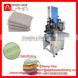Cheapest price plastic welding machine/kitchen sponge cutting machine/dish washing pad making machine