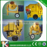 self loading mobile concrete mixer with wheels,powered by motor,gasoline or diesel engine