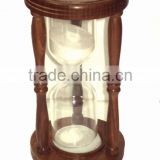 Wooden hourglass sand timer, 30 minute sand timer, 60 minute sand timer, large wood hourglass sand timer