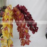 SJ20170032 China wholesale high quality artificial plastic flowers for indoor decoration artificial orchid