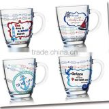 7oz 8oz 9oz 12oz sea ship serise color pinting water glass mug dinking glass cup set