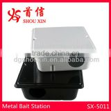 Black metal rodent bait station SX-5011