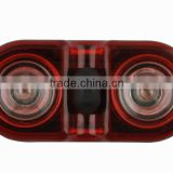 JING YI JY-528 3-Mode 0.5W 2 x Red LED Rear Warning Light Bicycle Safety Taillights