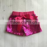 New Latest Designer Baby Leggings Kids Cute Girls Sequin Underwear Teen Girls Wearing Panties Shorts With Bowknot