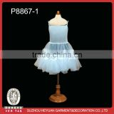 P8867-1 Hot Sale Pure White Kids Petticoat Dress