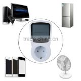 TS-1500 Electronic Energy Meter LCD Energy Monitor Plug-in Electricity Meter for EU Plug Monitor