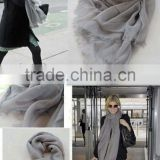 New fashion autumn winter Lady scarf Paris yarn solid color printing scarf Women Ultra big SIZE wrap