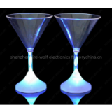 most hot selling advertising concert promotional gifts led glow plastic martini cup made in china