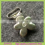 Cheap Price 20mm Flower Shape Metal Suspender Clips With Plastic Teeth Inside