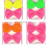 neon color big bows fashionable barrettes wholesale