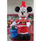 New Design Inflatable Christmas Cartoon Figure with gifts boxes for Christmas Decoration
