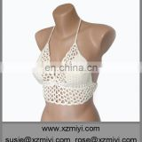 handmade cream crochet bikini top swimwear swimsuit bathing suit beach wear hot hot open sex katrina kaif bikini