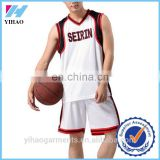 Yihao Custom Hot Selling Sportswear Basketball Jersey Sets Gym Wear Clothing Wholesale 2015