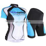 Women cycling short sleeve jersey shorts set bicycle sportswear clothing