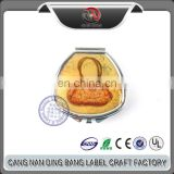 Factory Deriect Sale Eco-friendly Export Custom Sliver Metal PE Inner Domed Logo Portable Pill Box