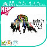Hot selling 12pcs resistance band set strength training exercise bands set