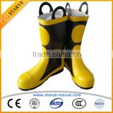 EN 15090 Metal Toe Steel Sole Insulating Waterproof Firefighting Used Fire Boots                                                                         Quality Choice