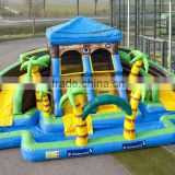 Inflatable pool water park slide bouncer outdoor backyard commercial play for kids
