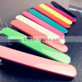 Women Solid Color Toothed Duckbill Acrylic Snap Hair Clips