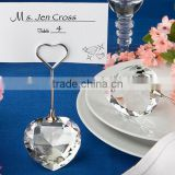 european style crystal heart photo& Card holder Charming wedding decoration baby shower party supplies