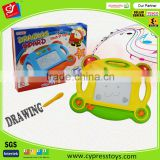 Hot selling item magnetic erasable colorful drawing board with light and sounds