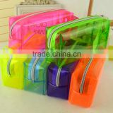 colourful clear PVC bag,zipper closure style shopping bag ,gift bag ,Cosmetic bag ,pencil bag
