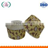 Medium-sized PET Paper Cupcake Liners SGS Roll Up Mouth FSC Baking Cup for cakes