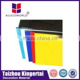 Alucoworld aluminium composite panel corrugated sandwich wall cladding marble/timber design aluminum composite panel
