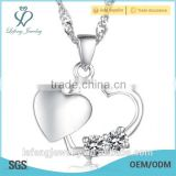 High quality silver color platinum heart necklace diamond necklace jewelry diamond necklaces for women