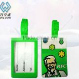 plastic rubber Baggage tag, silicone luggage label
