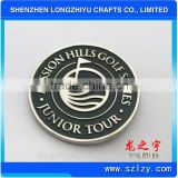 Stamping silver coin enamel souvenir coin made by coin machine