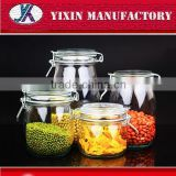 China hot sale empty custom made wholesale air-tight glass jars with metal clip                                                                         Quality Choice