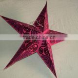 glitter printed paper star lamps new
