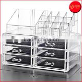 Acrylic 6 Drawers Cosmetic Organizer for Vanity Cabinet Makeup Beauty Products Jewelry Holder Display Storage Holder Box