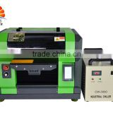 Hot selling A3 size flatbed uv printing service for plastic bag/glass/card uv printing machine