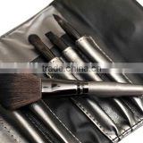 5pcs shiny grey cosmetic travel tool kit/private label makeup brush set/china manufacturer/make up tool bag products china