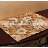 Customized tapestry jacquard fabric dinner table mat and table runner