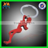 Promotional gift Aluminum allot sexy beauty girl keychain beer bottle opener