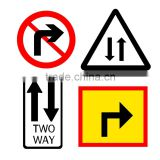 reflective traffic signs, aluminum directional arrow sign plate ,road marking warning sign board