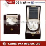 Metal accessories, wood and velvet material, MABUCHI motor, watch winder box 2 watches, for wholesale