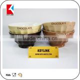 wholesale chocolate bowl stoneware mug custom logo printed mini ceramic soup bowl
