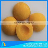 frozen yellow peach fruit