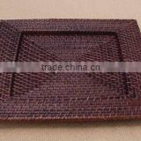 Handicraft product rattan plates wedding plates antique charger plate