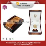 Vintage Glossy Award Wooden Medal Display Box/Single Gold Coin Package Box Design