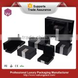 2015 Black lacquer jewelry boxes with aluminum metal flake Wahung custom box set